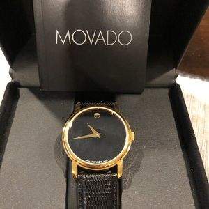 Brand New Movado Watch. Black and Gold.
